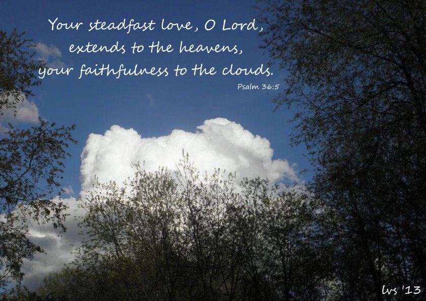 God's faithfulness to the clouds