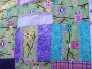 Owl Baby Quilt - Scrappy & Raggedy