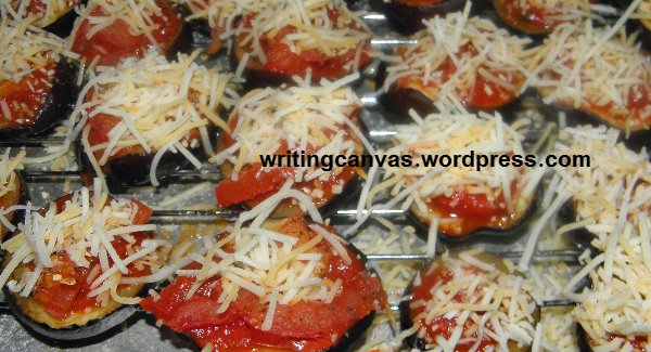 Eggplant Pizza Bites with Recipe
