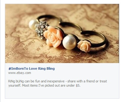 #ImBorn to Love Ring Bling