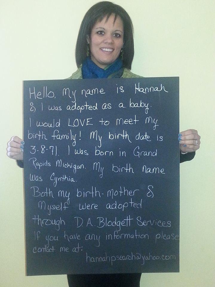 Help Hannah find her birthmom